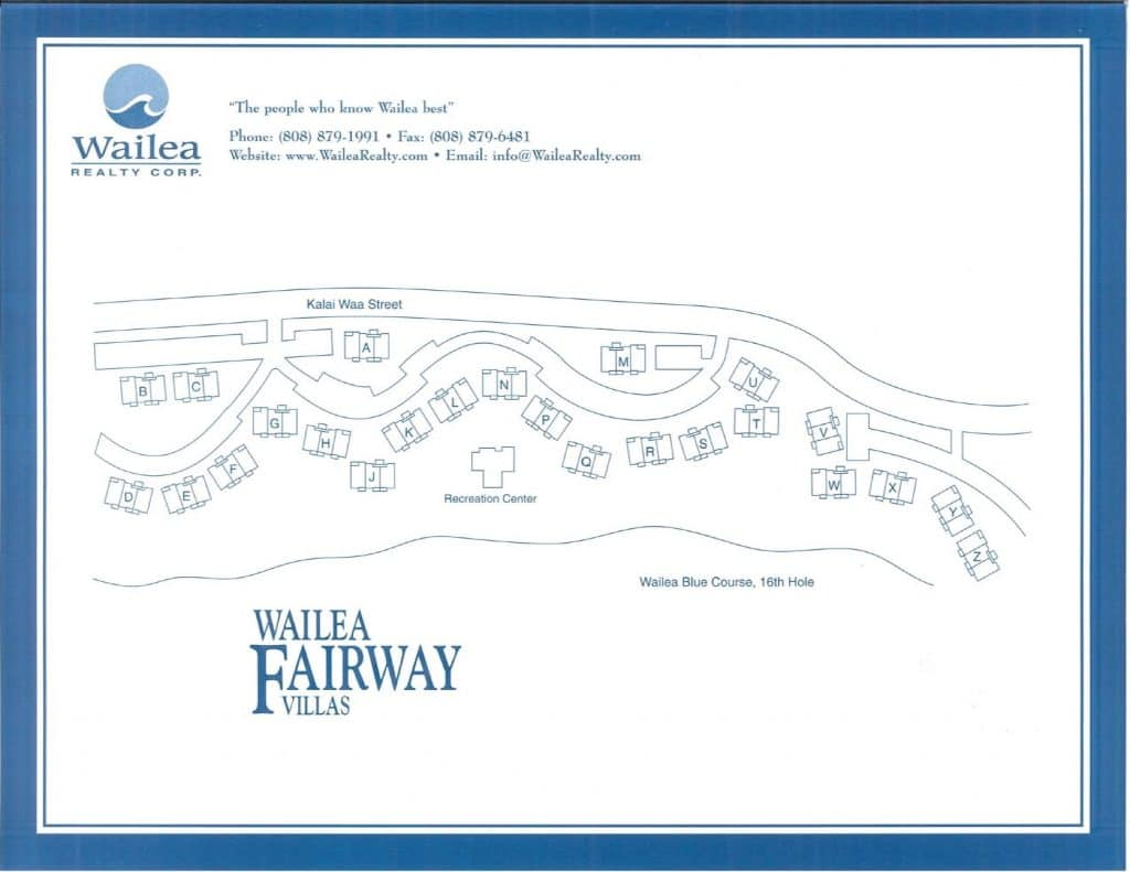 Wailea Fairway Villas Condo Map