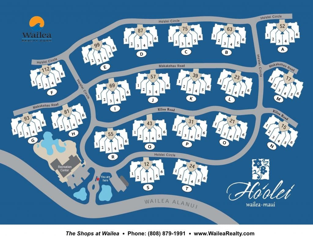 Ho'olei Condo Map