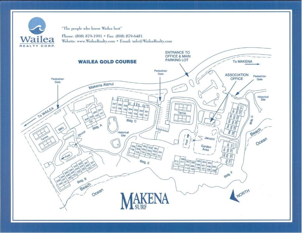 Makena Surf Condo Map