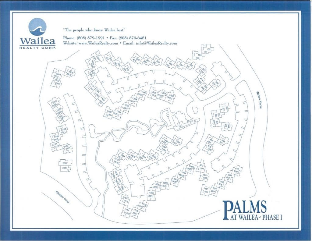 Palms at Wailea Condo Map