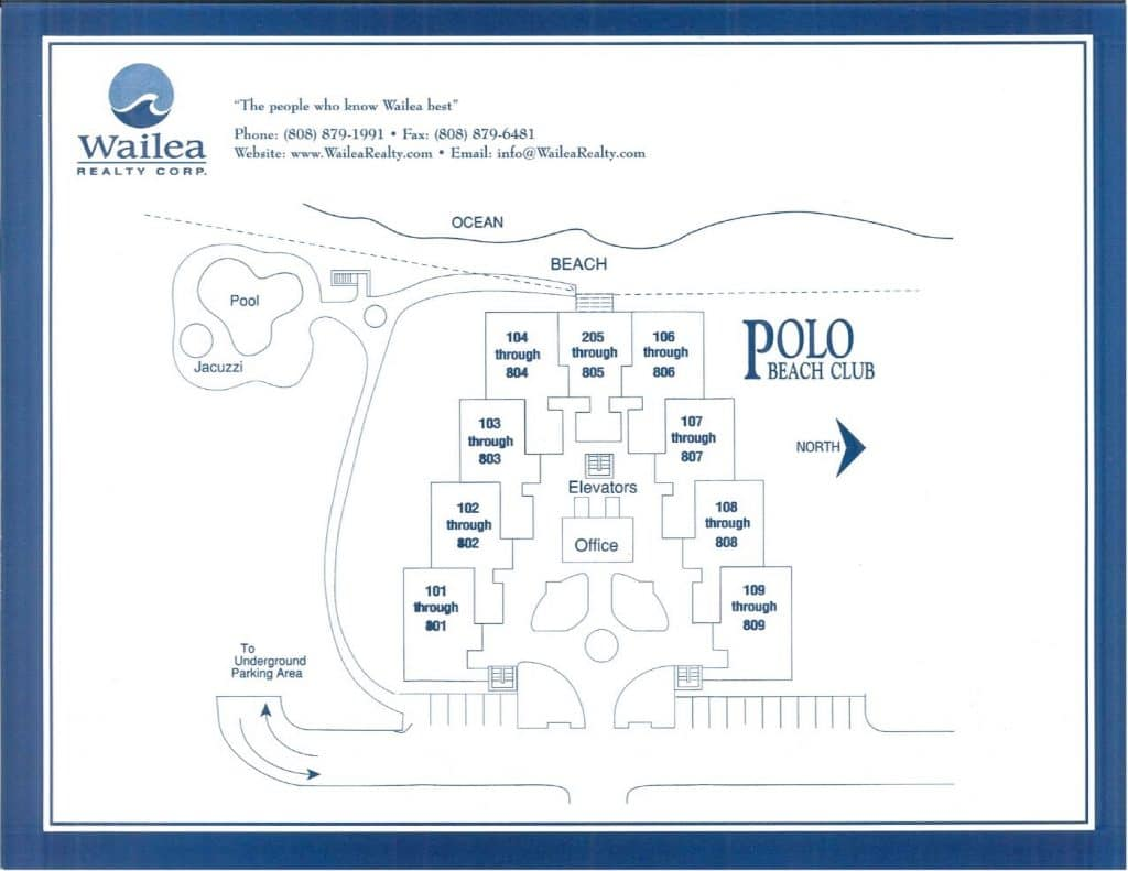 Polo Beach Club Condo Map