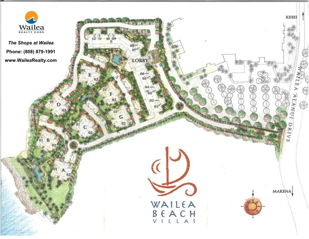 Wailea Beach Villas Condo Map