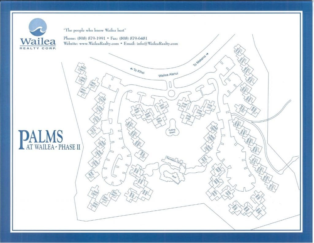 Wailea Palms Condo Map