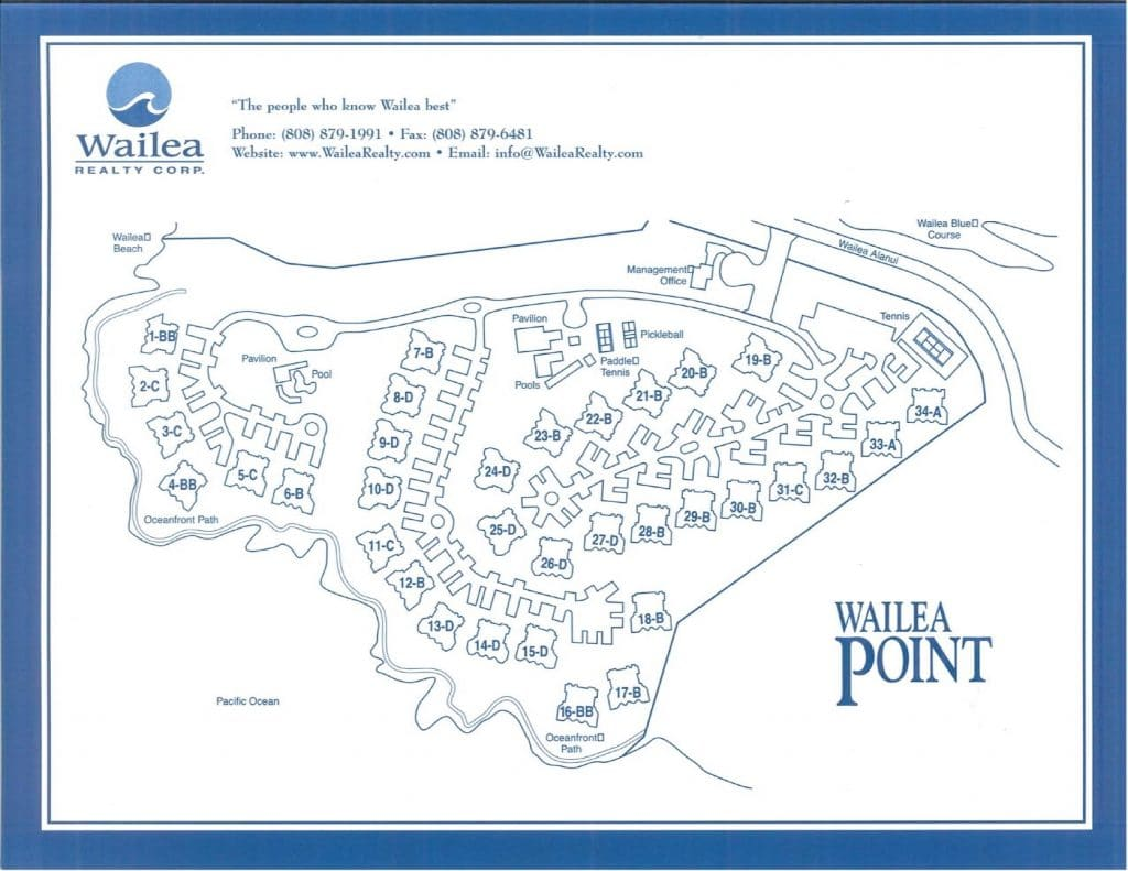 Wailea Point Condo Map